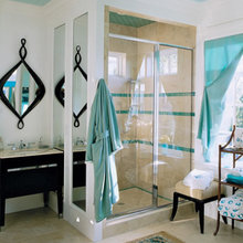 Фотография: Ванная в стиле Современный, Восточный, Декор интерьера, Дизайн интерьера, Цвет в интерьере – фото на InMyRoom.ru