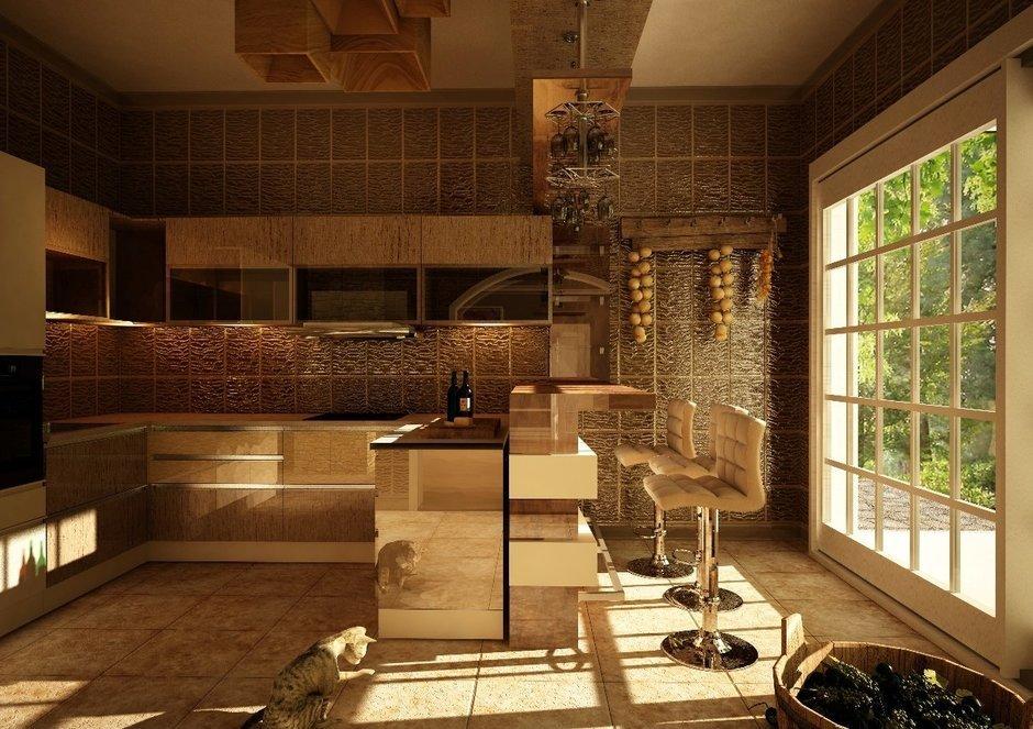 Фотография: Кухня и столовая в стиле Восточный, Дом, Дома и квартиры, Проект недели, Современное искусство – фото на InMyRoom.ru