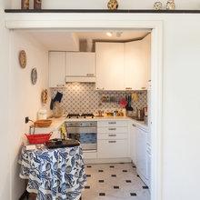Фотография: Кухня и столовая в стиле Скандинавский, Малогабаритная квартира, Карта покупок, Индустрия, Бытовая техника – фото на InMyRoom.ru