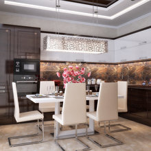 Фото из портфолио Нежный дизайн гостиной и кухни от Design Ideas Crimea – фотографии дизайна интерьеров на InMyRoom.ru