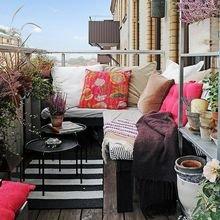 Фотография: Балкон, Терраса в стиле Кантри, Современный, Интерьер комнат, Барная стойка – фото на InMyRoom.ru