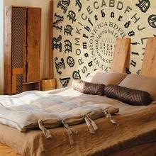 Фотография: Спальня в стиле Кантри, Современный, Эклектика, Декор интерьера, DIY, Стиль жизни, Советы, Стена, Постеры – фото на InMyRoom.ru