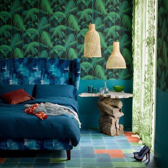 Фотография: Спальня в стиле Эклектика, Декор интерьера, Дизайн интерьера, Цвет в интерьере, Черный – фото на InMyRoom.ru