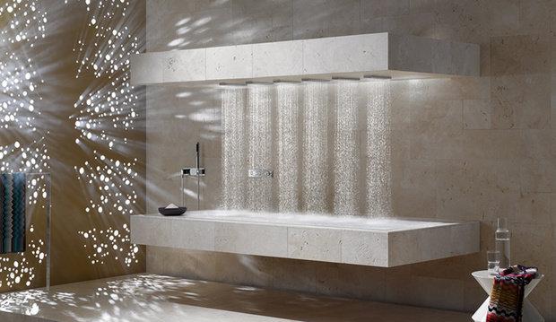 Фотография: Ванная в стиле Минимализм, Современный, Декор интерьера, Дизайн интерьера, Декор, Зеленый, Ванна, Эко – фото на InMyRoom.ru
