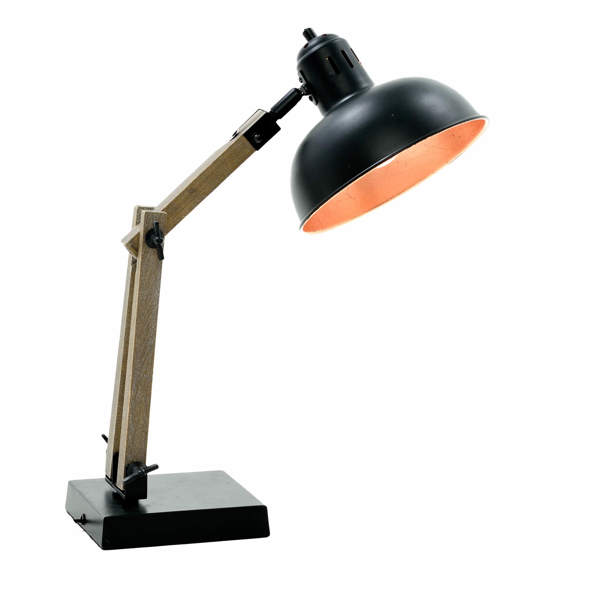 Купить со скидкой Настольная лампа с плафоном из металла
