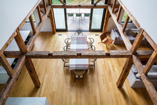 Фотография: Кухня и столовая в стиле Скандинавский, Эко, Лофт, Современный, Канада, Белый, Бежевый, Серый, Дом и дача – фото на INMYROOM