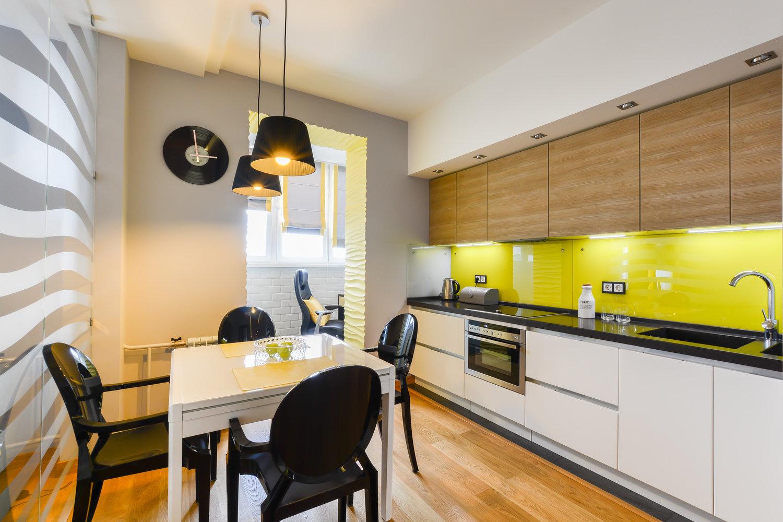 Эко кухня в желтом цвете