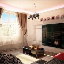 Фотография: Гостиная в стиле Современный, Малогабаритная квартира, Квартира, Дома и квартиры, Мебель-трансформер – фото на InMyRoom.ru