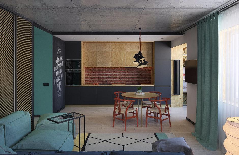Фотография:  в стиле , Квартира, Проект недели, Краснодар, Екатерина Домрачева – фото на InMyRoom.ru