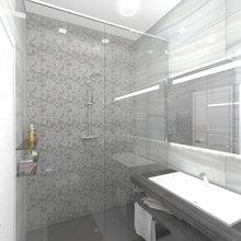Фото из портфолио Мраморная душевая – фотографии дизайна интерьеров на INMYROOM