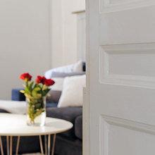 Фотография: Гостиная в стиле Скандинавский, Современный, Малогабаритная квартира, Квартира, Швеция, Мебель и свет, Дома и квартиры, Гетеборг – фото на InMyRoom.ru