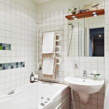 Фотография: Ванная в стиле Скандинавский, Квартира, Швеция, Цвет в интерьере, Дома и квартиры, Белый – фото на InMyRoom.ru