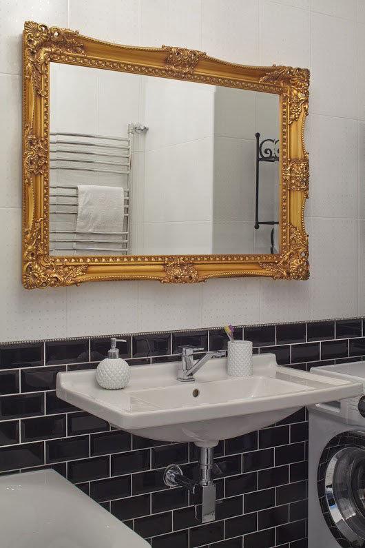 Фотография: Ванная в стиле Скандинавский, Квартира, Цвет в интерьере, Дома и квартиры, Перепланировка, Серый – фото на InMyRoom.ru