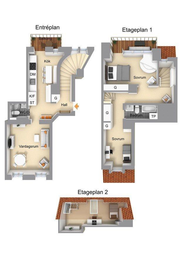 Фотография: Планировки в стиле , Скандинавский, Эклектика, Декор интерьера, Квартира, Швеция, Стокгольм, 4 и больше, Более 90 метров – фото на INMYROOM