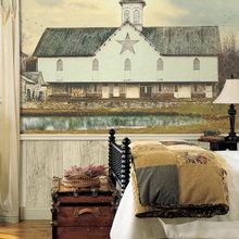 Фотография: Спальня в стиле Кантри, Декор интерьера, Дизайн интерьера, Цвет в интерьере, Обои – фото на InMyRoom.ru