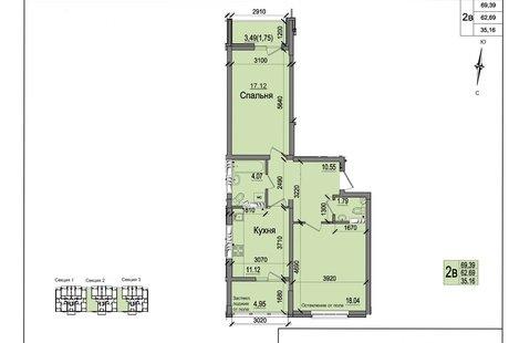 Помогите перепланировать 2-х комнатную