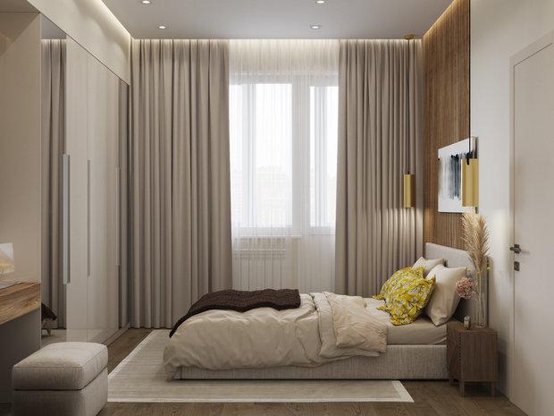 Фотография: Спальня в стиле Современный, Квартира, Проект недели, Одинцово, 4 и больше, 60-90 метров, Мария Гульбекян – фото на INMYROOM
