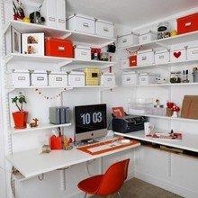 Фотография: Кабинет в стиле Скандинавский, Интерьер комнат, Системы хранения – фото на InMyRoom.ru