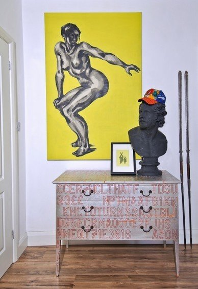 Фотография: Декор в стиле Лофт, Квартира, Цвет в интерьере, Дома и квартиры, IKEA, Лондон, Черный, Поп-арт – фото на InMyRoom.ru