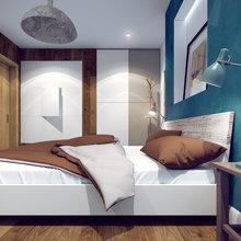 Фотография: Спальня в стиле Лофт, Современный, Квартира, Дома и квартиры, Москва – фото на InMyRoom.ru