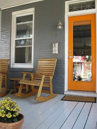 Фотография: Балкон, Терраса в стиле Прованс и Кантри, Современный, Декор интерьера, Дизайн интерьера, Цвет в интерьере, Оранжевый – фото на InMyRoom.ru