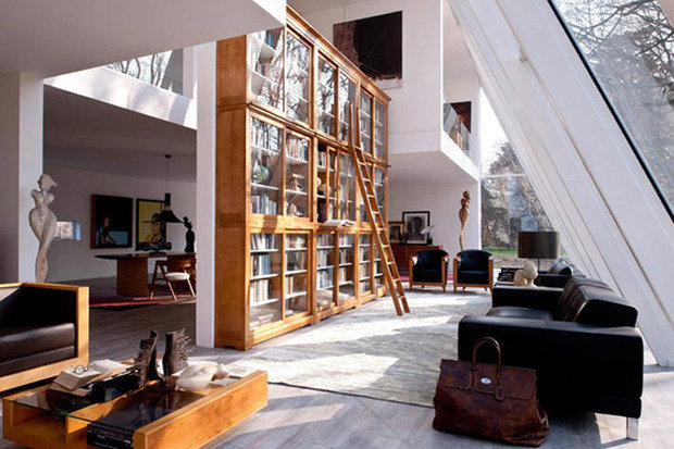 Фотография: Гостиная в стиле Современный, Системы хранения, Библиотека, Домашняя библиотека – фото на InMyRoom.ru