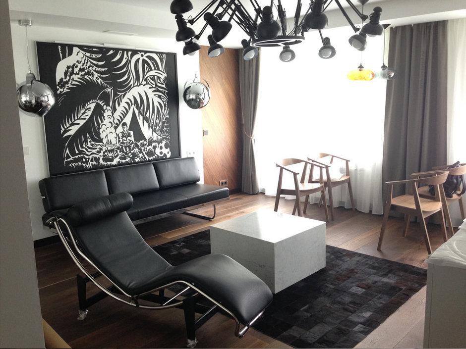 Фотография: Гостиная в стиле Современный, Хай-тек, Квартира, Дома и квартиры, Проект недели – фото на InMyRoom.ru