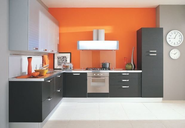 Фотография:  в стиле , Кухня и столовая, Декор интерьера, Квартира, Дом, Декор, Оранжевый – фото на InMyRoom.ru