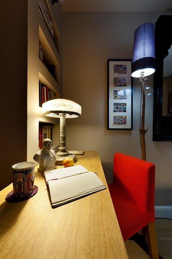 Фотография: Офис в стиле Современный, Малогабаритная квартира, Квартира, Цвет в интерьере, Дома и квартиры, Переделка – фото на InMyRoom.ru