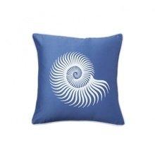 Подушка с принтом Sea Shell Diamond-Blue
