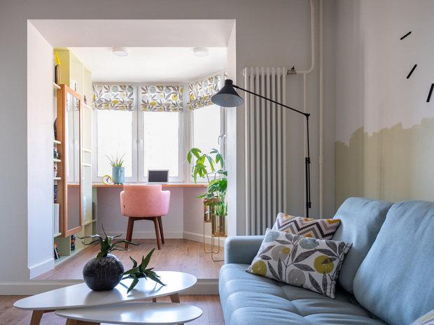 Фотография: Балкон в стиле Современный, Квартира, Проект недели, Москва, П-44К, Панельный дом, 2 комнаты, 60-90 метров, Анна Морозова – фото на INMYROOM