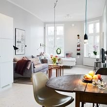 Фотография: Гостиная в стиле Скандинавский, Малогабаритная квартира, Квартира, Студия, Планировки – фото на InMyRoom.ru