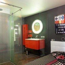 Фотография: Ванная в стиле Лофт, Современный, Эклектика – фото на InMyRoom.ru