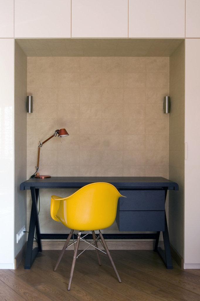 Фотография: Офис в стиле Современный, Лофт, Малогабаритная квартира, Квартира, Дома и квартиры, Проект недели – фото на InMyRoom.ru