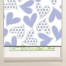 Рулонные шторы: Сердца в цветочек