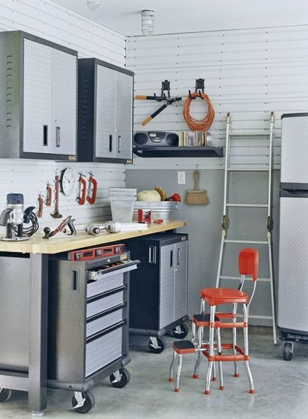 Фотография: Прочее в стиле Лофт, Дом и дача, как обустроить гараж, хранение в гараже, как обустроить дачный сарай, идеи для гаража – фото на InMyRoom.ru