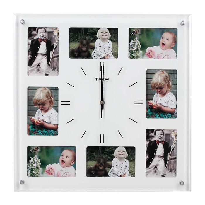 """Часы """"Время радости"""" с фото (настенные часы-фоторамка)"""