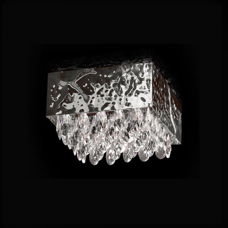 Купить Потолочный светильник Lamp di Volpato Patrizia Magma с кулонами из хрусталя, inmyroom, Италия