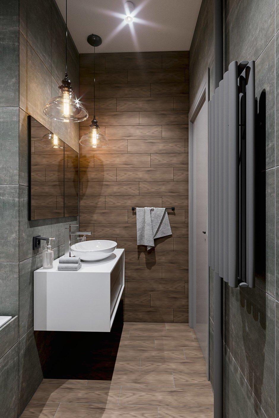 Фотография: Ванная в стиле Лофт, Квартира, Проект недели, Москва, Монолитный дом, 2 комнаты, 40-60 метров, CENS architects, ЖК «Технопарк» – фото на InMyRoom.ru