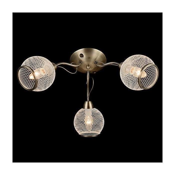 Потолочная люстра EUROSVET АНТИЧНАЯ БРОНЗА с декоративными металлическими плафонами