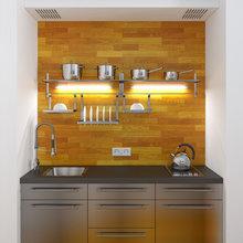 Фотография: Кухня и столовая в стиле Современный, Хай-тек – фото на InMyRoom.ru
