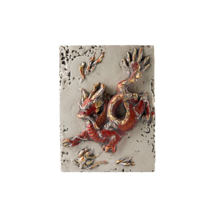 Панно Жемчужина счастья (красно-белый)