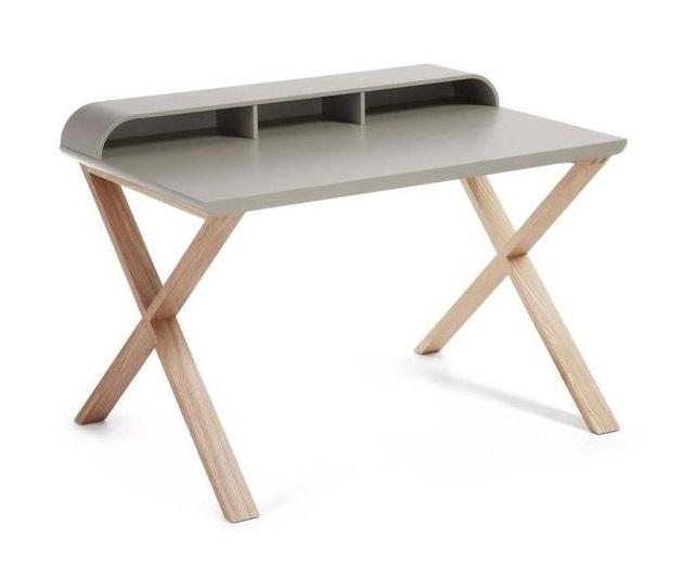 Купить Письменный стол Julia Grup Living Success (серый со светлыми ножками), inmyroom, Испания