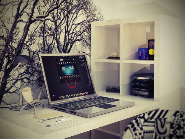 Фотография: Офис в стиле Скандинавский, Малогабаритная квартира, Квартира, Дома и квартиры, IKEA, Ремонт, П-111М – фото на InMyRoom.ru