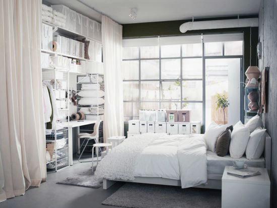 Фотография: Спальня в стиле Скандинавский, Гардеробная, Декор интерьера, Интерьер комнат, Системы хранения, Кровать, Гардероб – фото на InMyRoom.ru