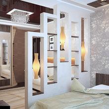 Фотография: Спальня в стиле Современный, Квартира, Интерьер комнат, Советы, Перепланировка, Ширма – фото на InMyRoom.ru