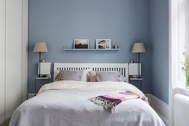 Фотография: Спальня в стиле Скандинавский, Декор интерьера, Квартира, Швеция, 3 комнаты, 60-90 метров – фото на InMyRoom.ru