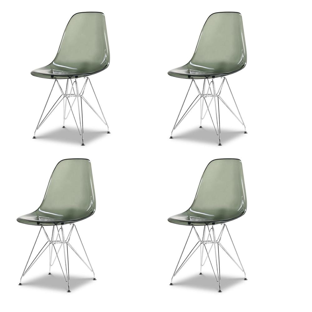 Купить Набор из четырех стульев с серым прозрачным сидением, inmyroom, Китай