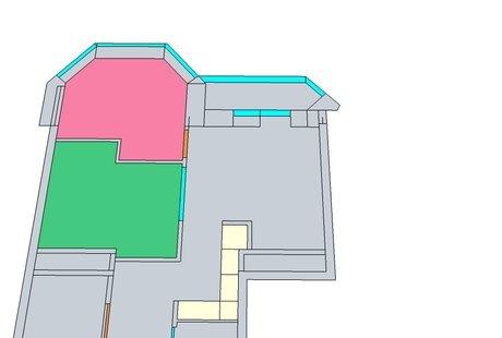 Перепланировка однокомнатной квартиры 41.77 кв.м.