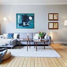 Фотография: Гостиная в стиле Минимализм, Декор интерьера, Мебель и свет, Советы, Белый, как оформить пустой угол, пустой угол в квартире – фото на InMyRoom.ru